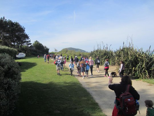 The sun shone for the 4th Herm World Aid Walk.JPG