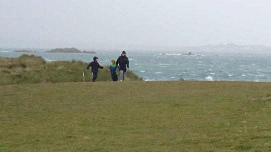 A wet and windy Herm World Aid Walk 2017 (2)
