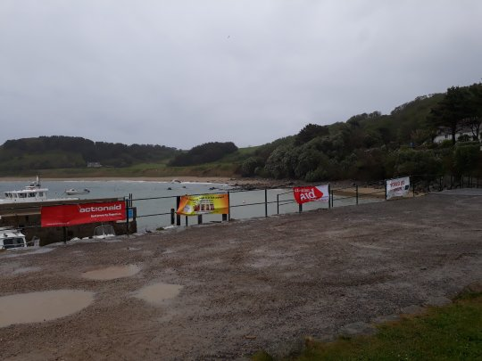 Wet and windy Herm harbour 2017